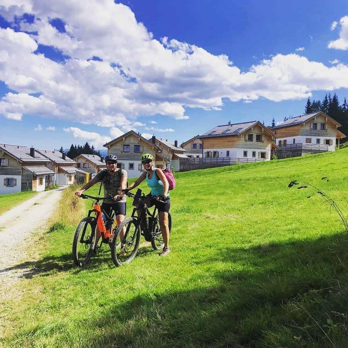 Biking at Chaletdorf Fanningberg